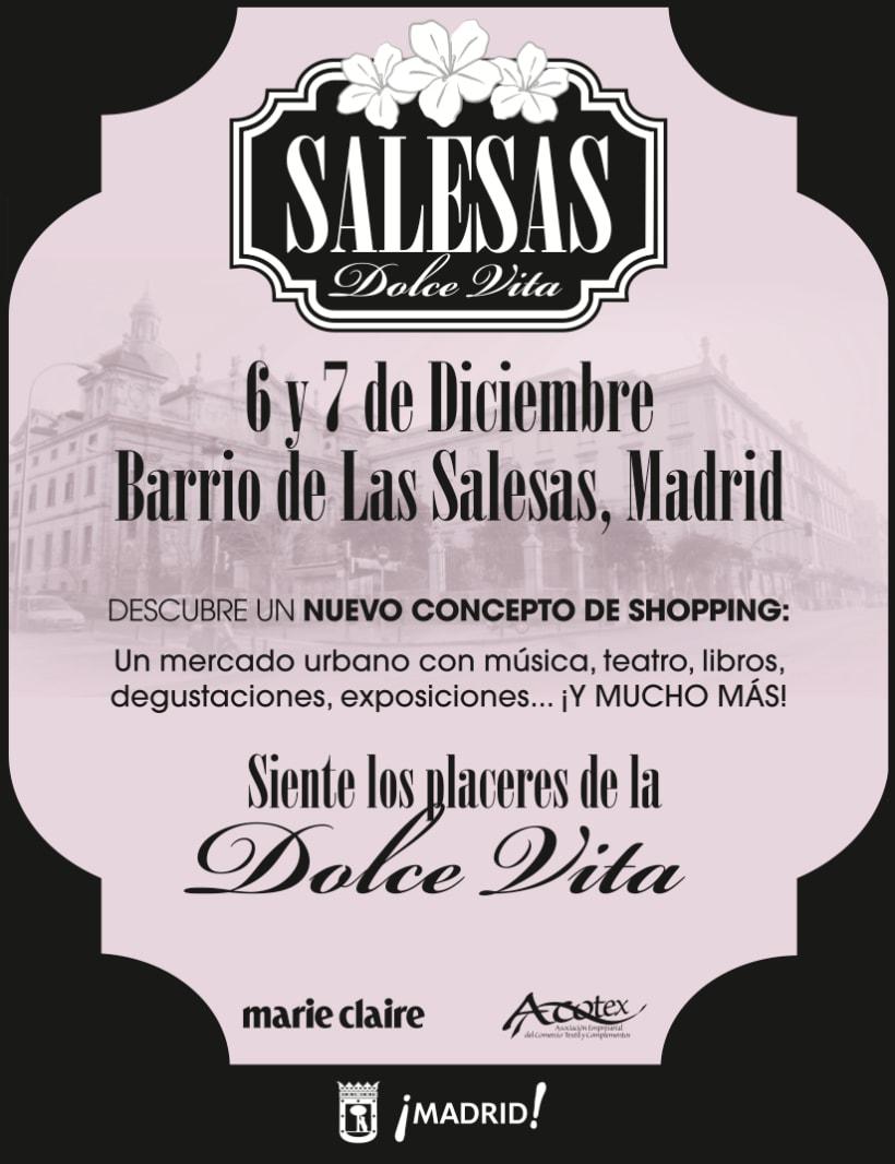 Identidad corporativa y materiales gráficos para SALESAS DOLCE VITA (patrocinado por Marie Claire) 2