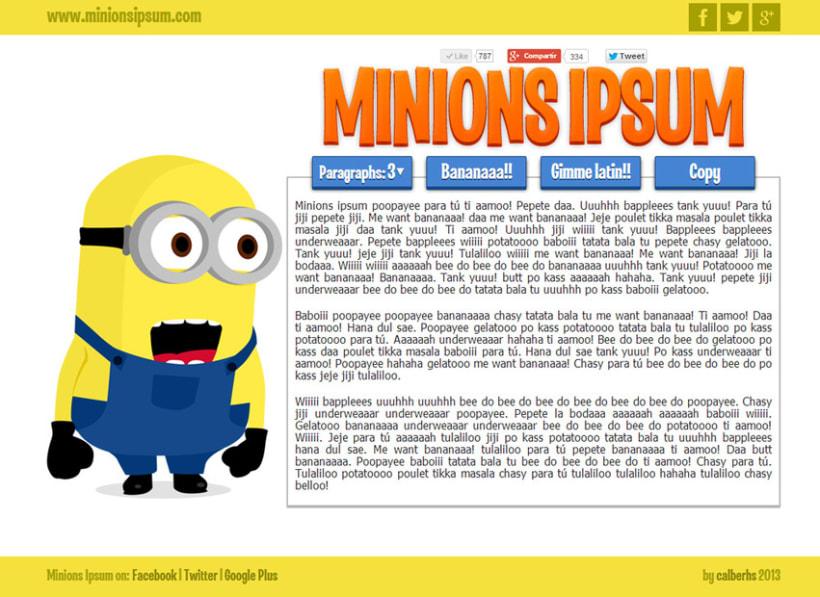 Minions Ipsum -1