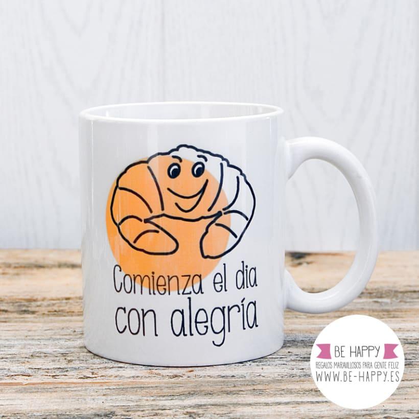 """Diseño de taza, """"Comienza el día con Alegría"""" 1"""