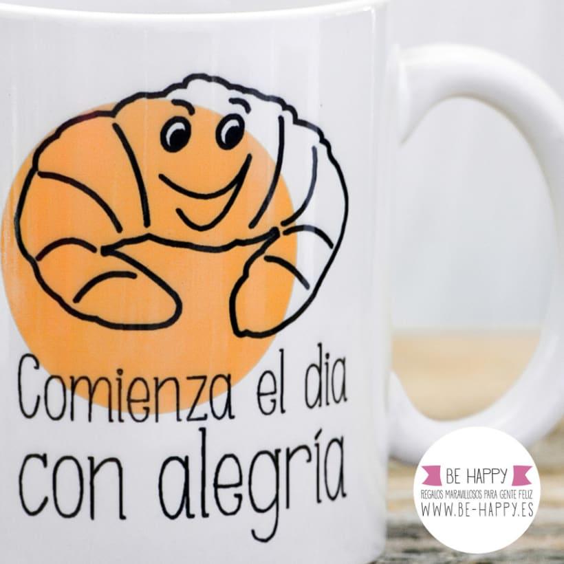 """Diseño de taza, """"Comienza el día con Alegría"""" 2"""