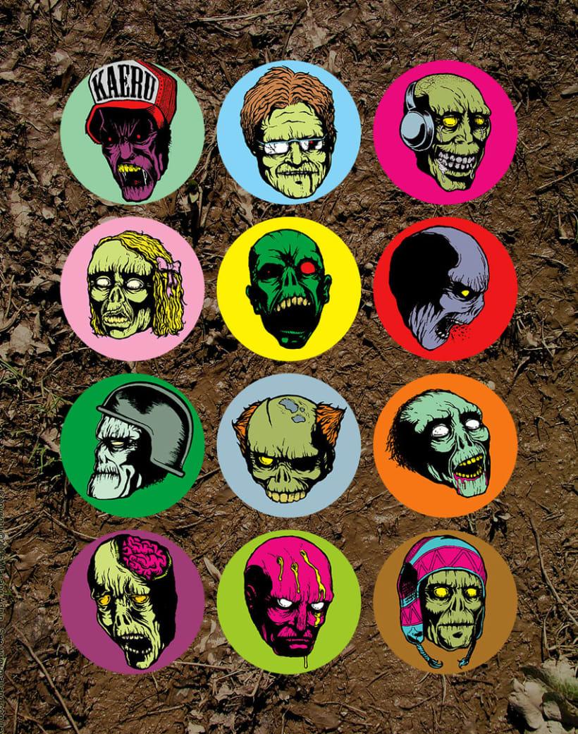 Zombie Stickers -1