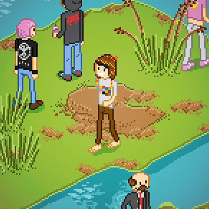 Poster Reserva Ecologica - Ilustracion Pixel Art -1