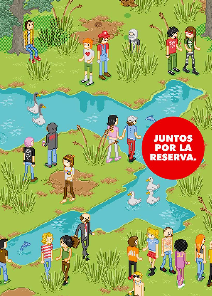 Poster Reserva Ecologica - Ilustracion Pixel Art 0