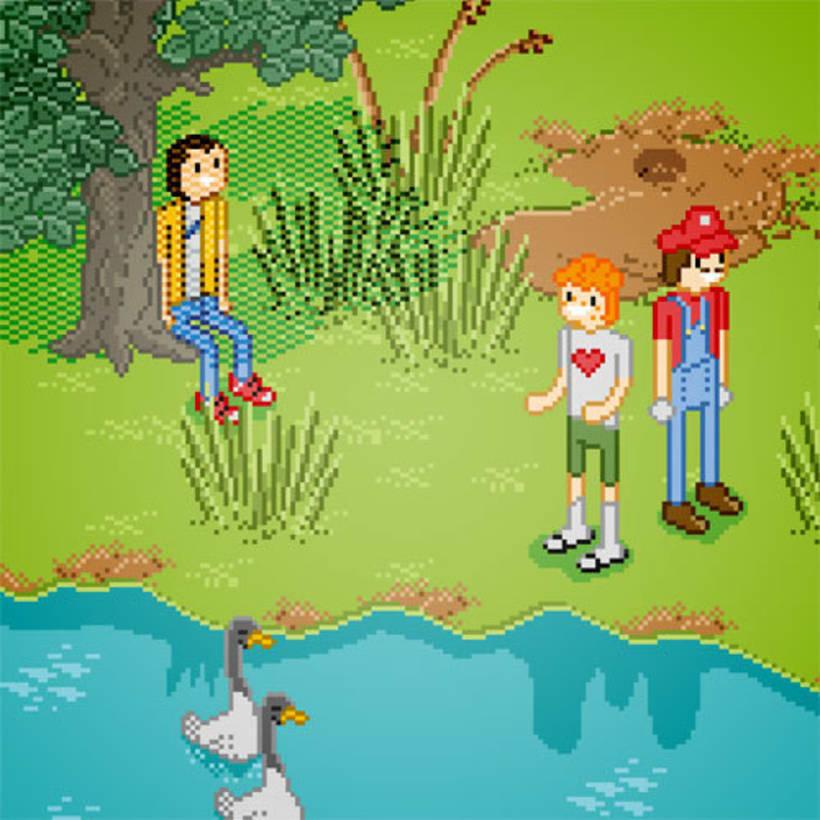 Poster Reserva Ecologica - Ilustracion Pixel Art 1