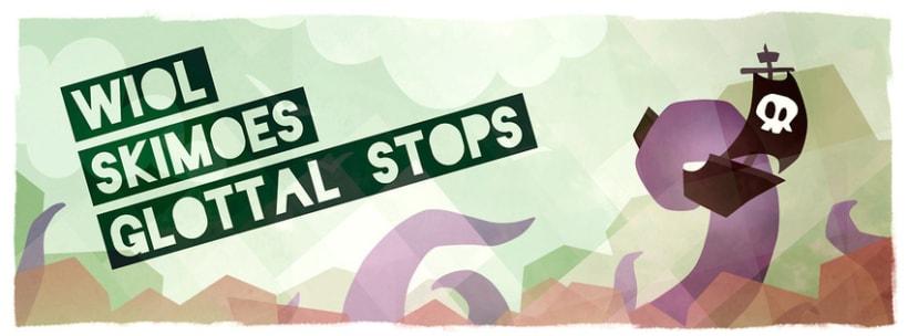 Cartel Concierto Glottal Stops + Wiol 1