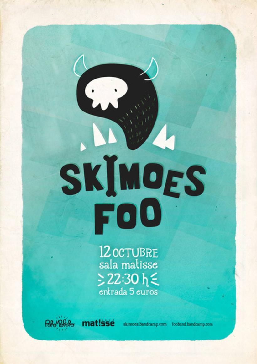 Cartel Concierto Skimoes -1
