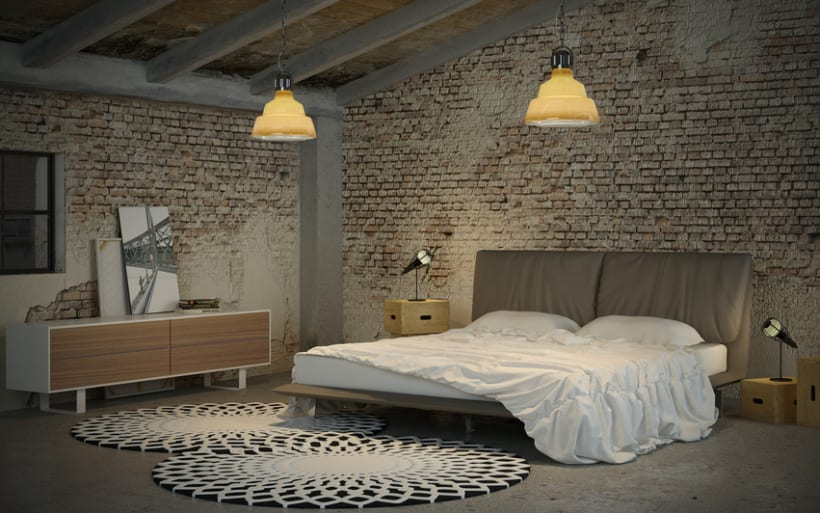 Industrial bedroom domestika for Bedroom ideas industrial