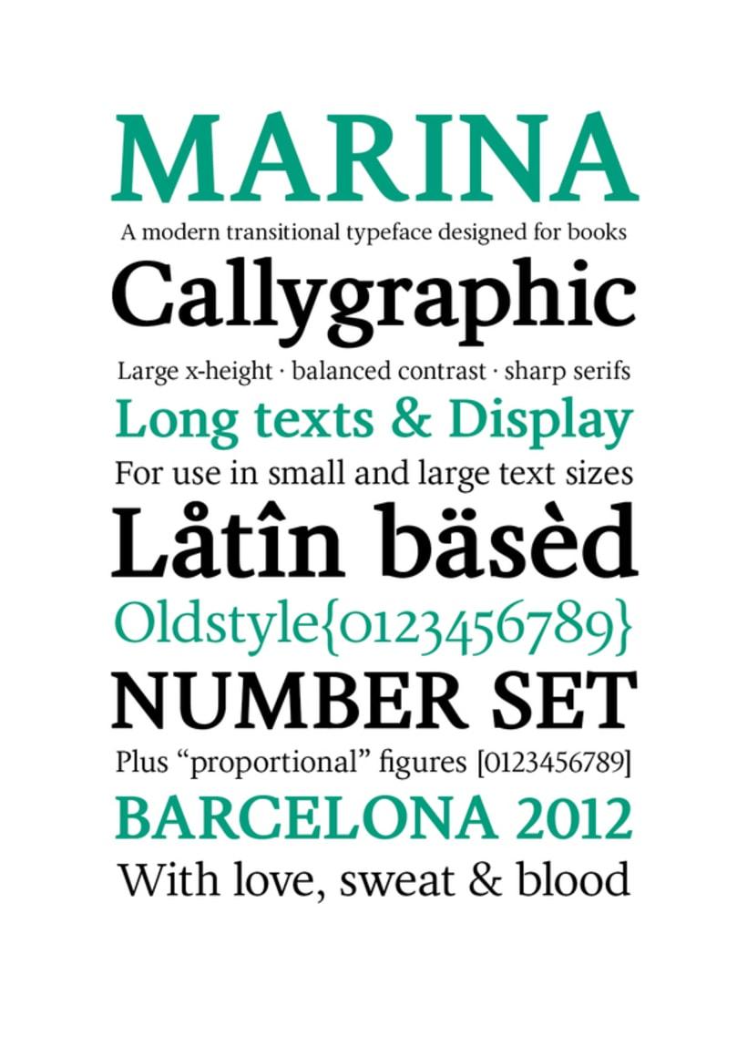 Marina (typeface) 0