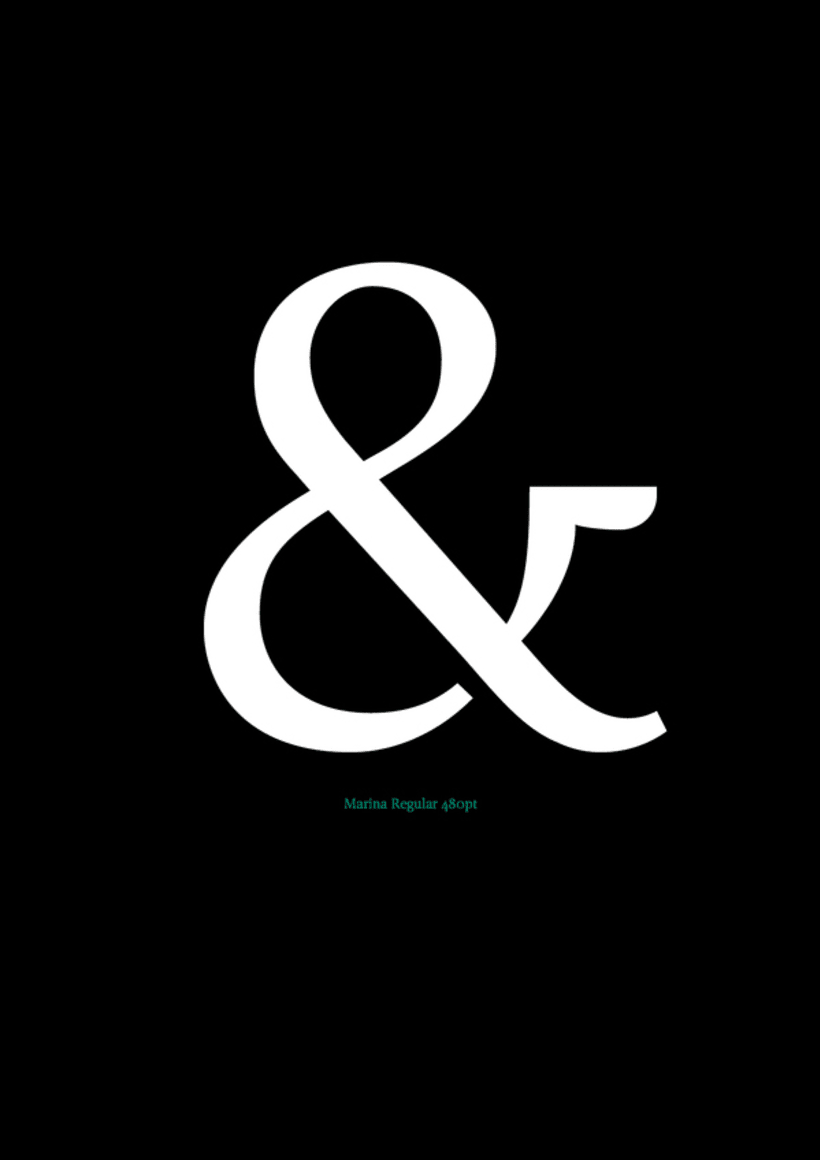 Marina (typeface) 1