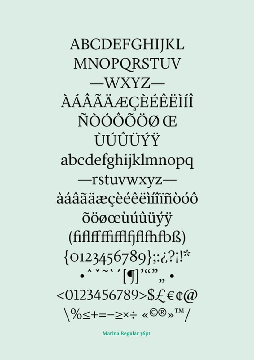 Marina (typeface) 11