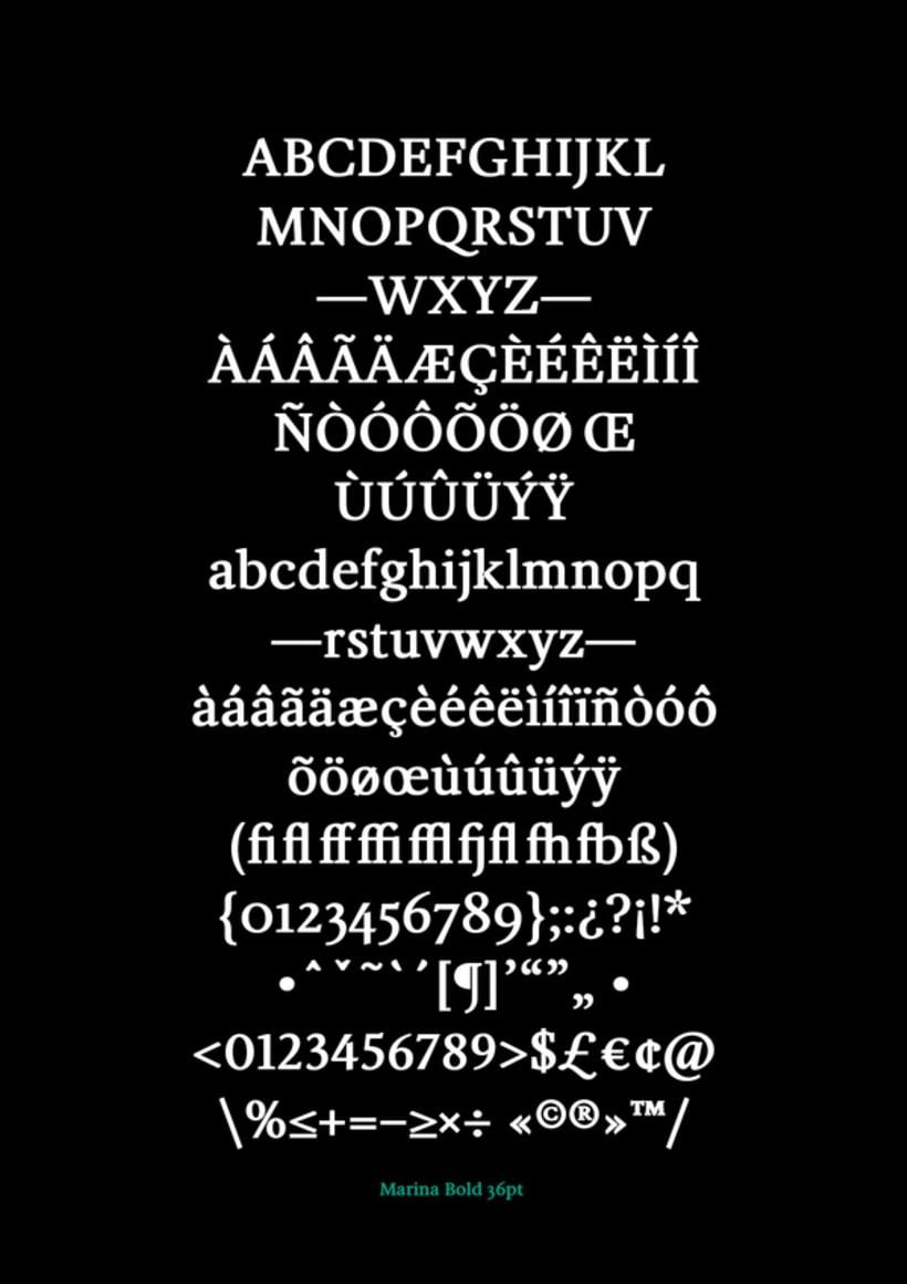 Marina (typeface) 12