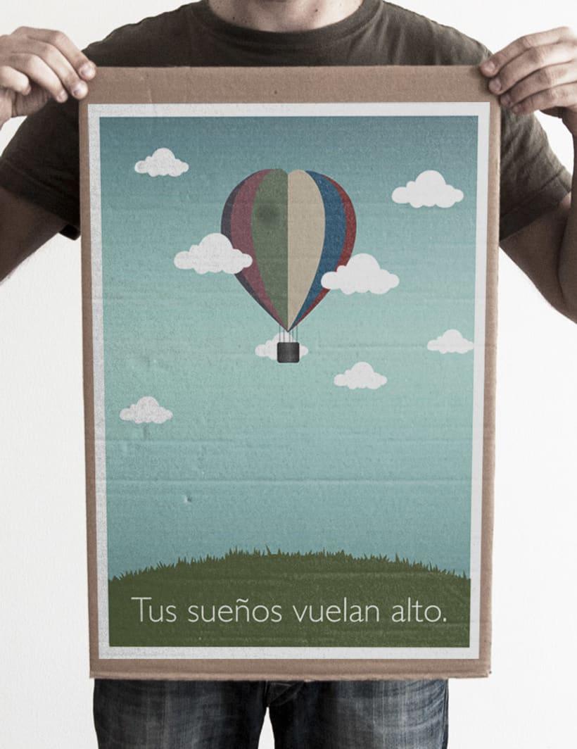 Ilustración Tus sueños vuelan alto. -1