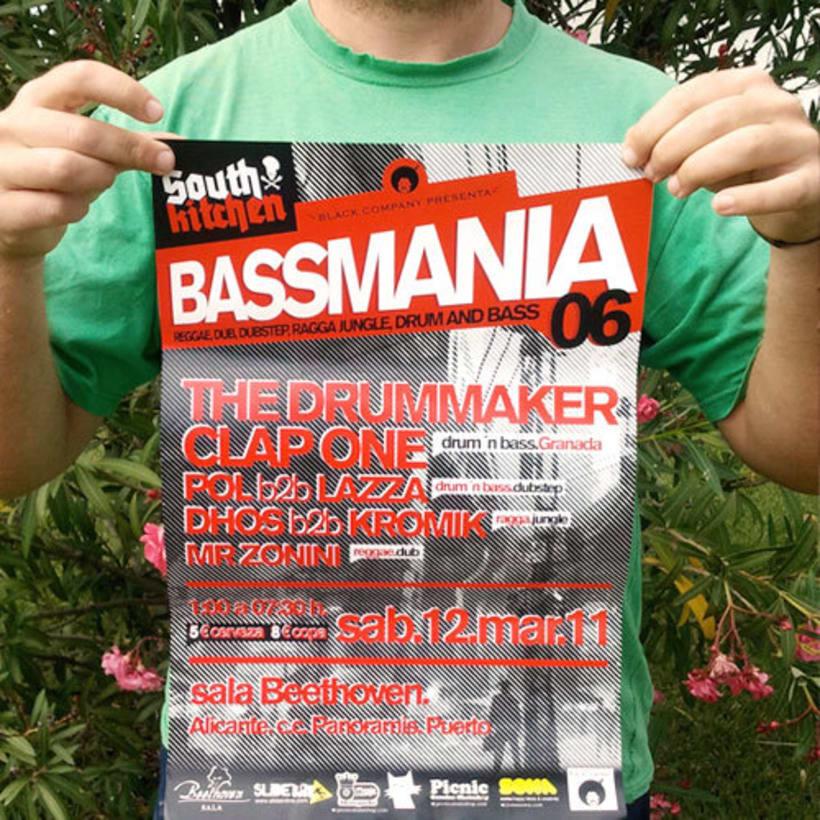 Bassmania | direccion de arte, carteles flyers y visuales en directo 1