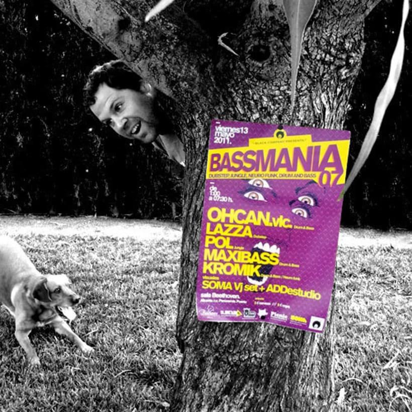 Bassmania | direccion de arte, carteles flyers y visuales en directo 2