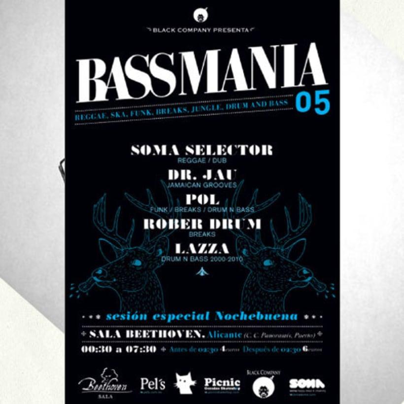 Bassmania | direccion de arte, carteles flyers y visuales en directo 4