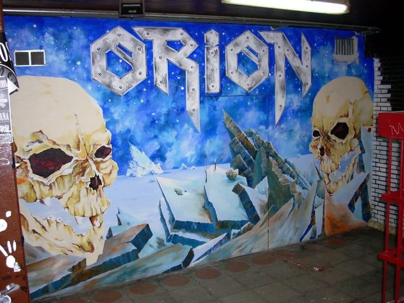 Pintura mural en fachadas, cierres e interiores 3