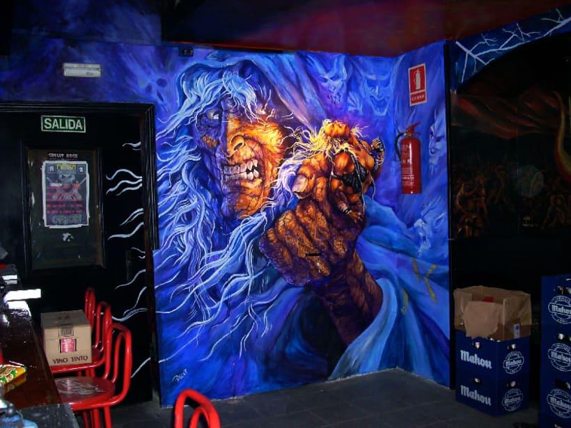 Pintura mural en fachadas, cierres e interiores 4