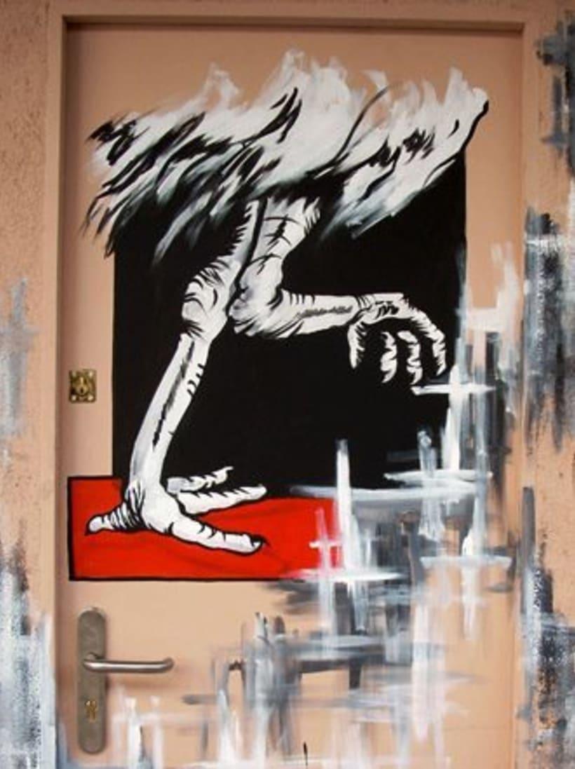 Pintura mural en fachadas, cierres e interiores 9