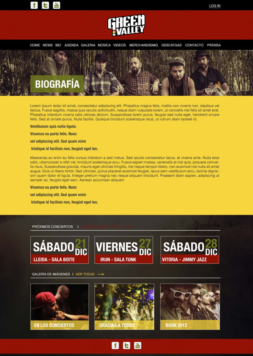 Diseño web - Green Valley 1