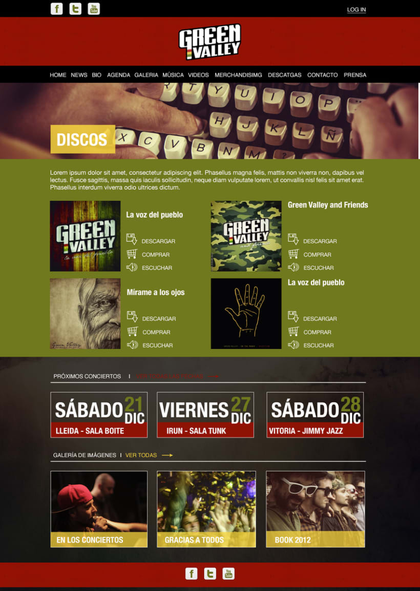 Diseño web - Green Valley 2