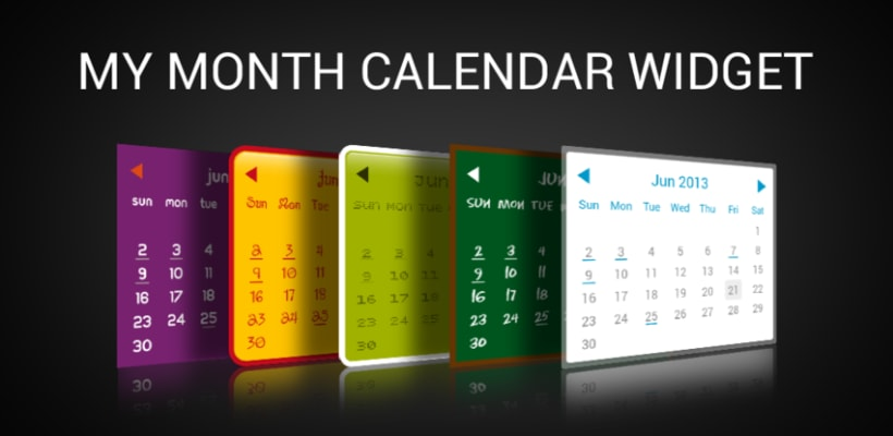 My Month Calendar Widget 0