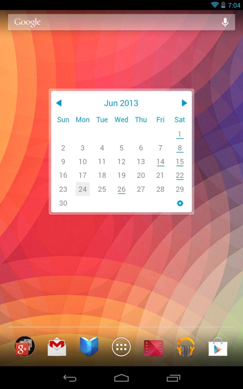 My Month Calendar Widget 1