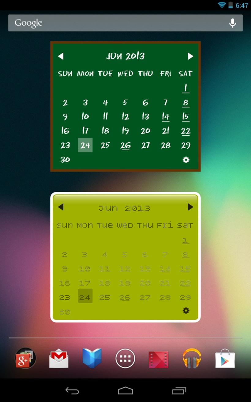 My Month Calendar Widget 2