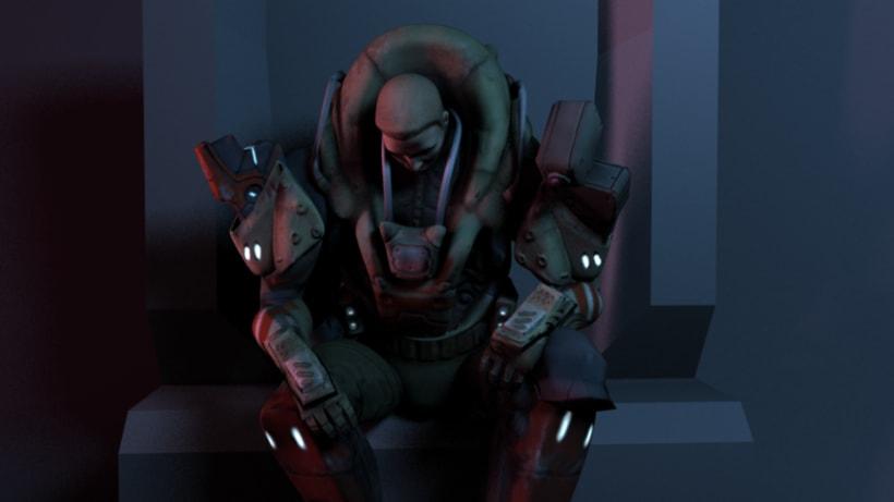 Personaje Scify. Basado en el concept de RedSteam Gameloft 1