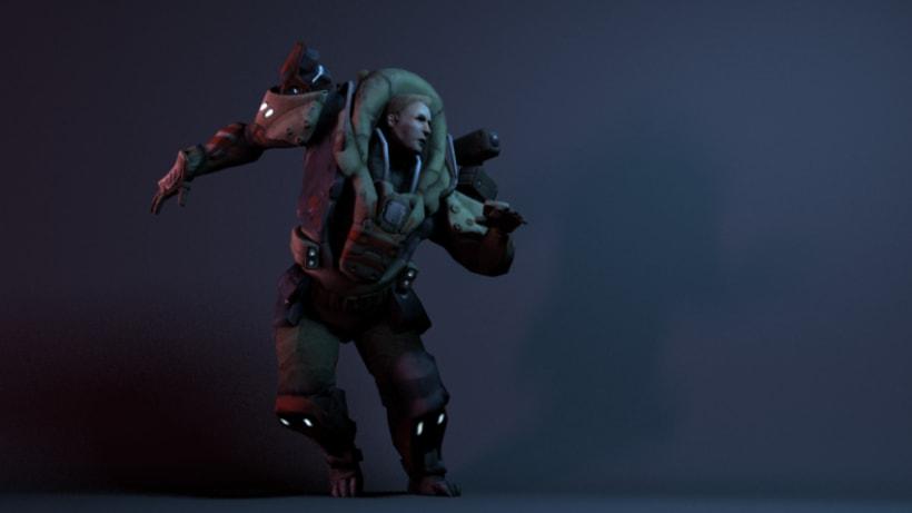 Personaje Scify. Basado en el concept de RedSteam Gameloft 0