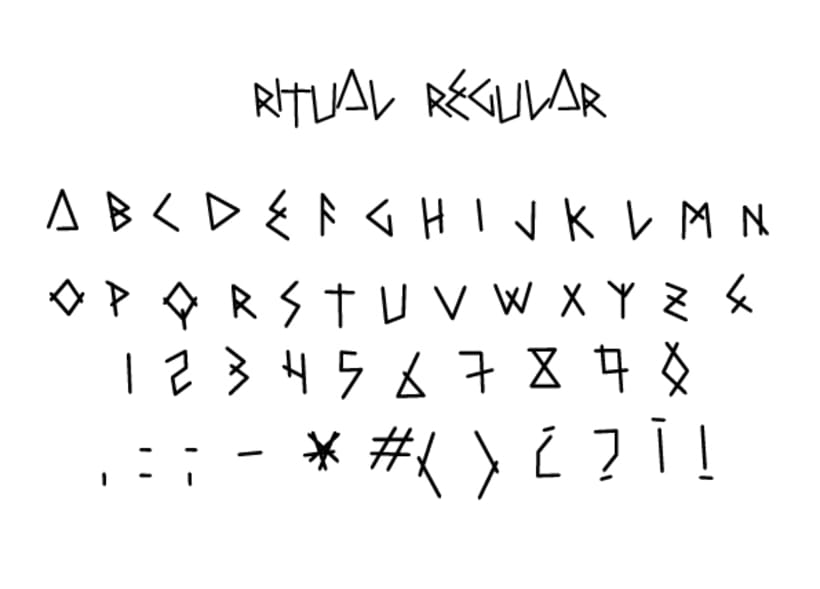 RITUAL free font 2