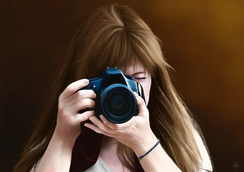 Retrato - Pintura digital realizada con los dedos en el Ipad 0