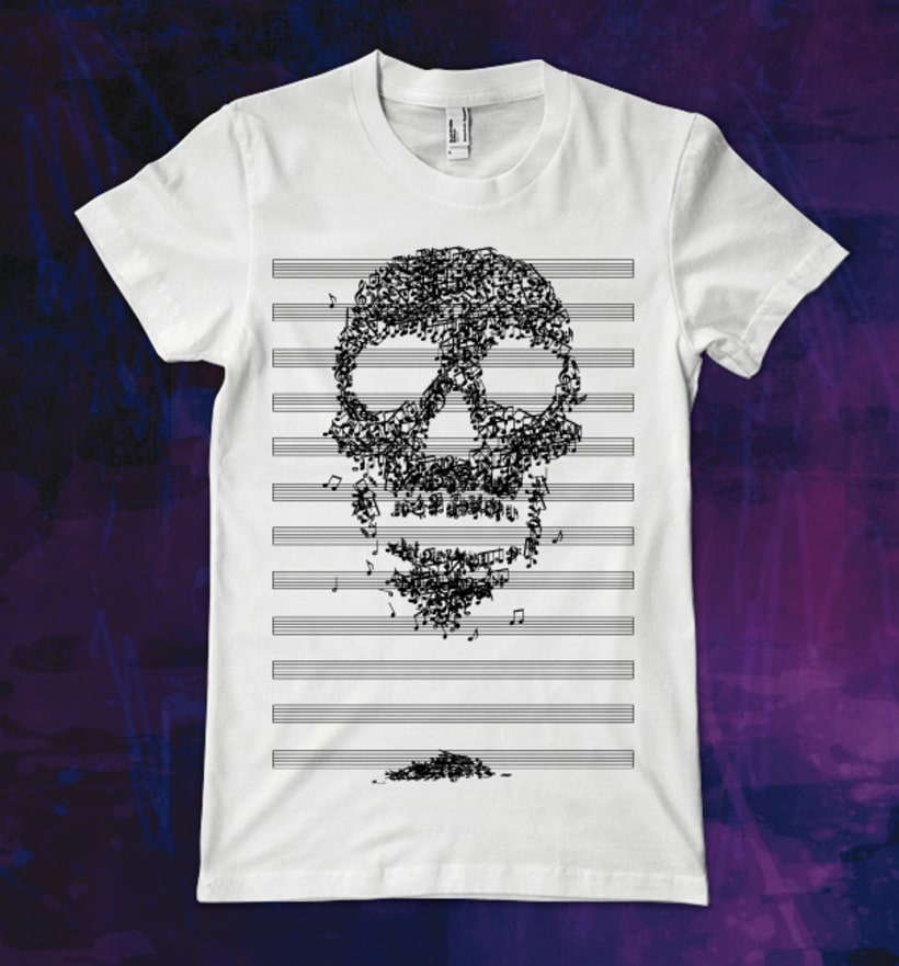 "Diseño de camiseta ""Death Song"" -1"