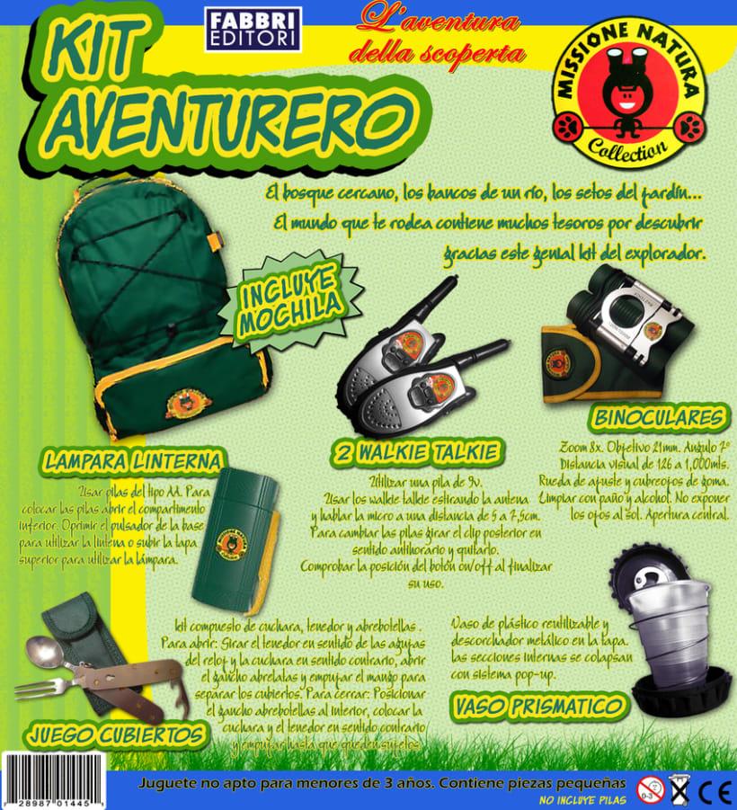 Fabbri Editori - Carátula embalaje juguete explorador -1