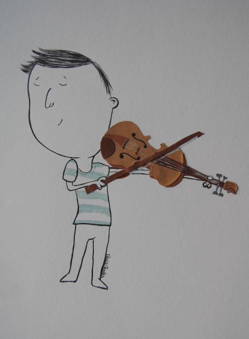 Collage violinista -1