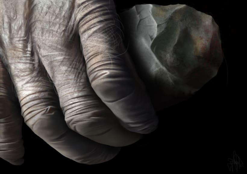 Humanidad - Pintura  digital realizada con los dedos en el Ipad -1