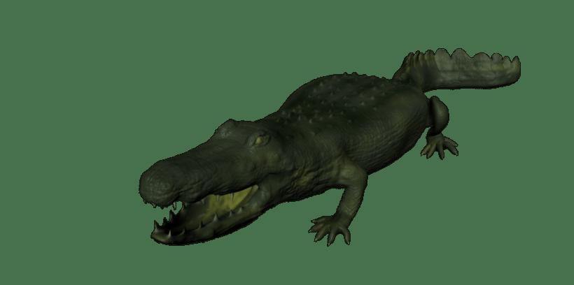 3D crocodile mudbox -1