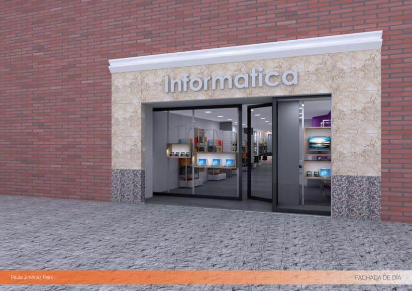 Proyecto de interiorismoTienda de informática 2012. (Murcia) 0