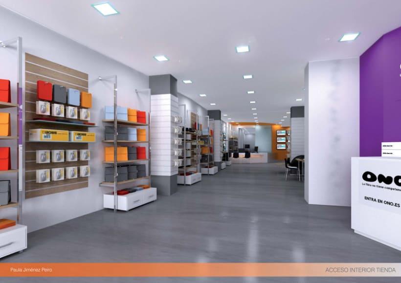 Proyecto de interiorismoTienda de informática 2012. (Murcia) 2