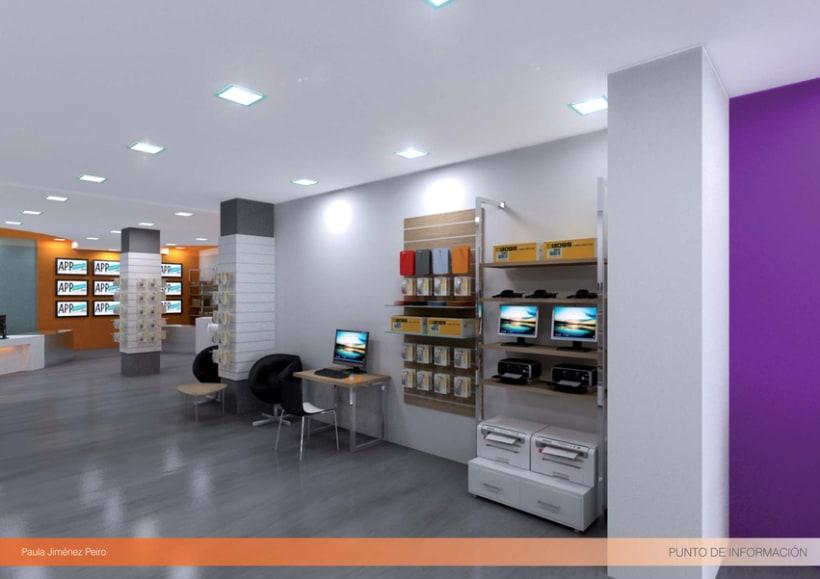 Proyecto de interiorismoTienda de informática 2012. (Murcia) 3