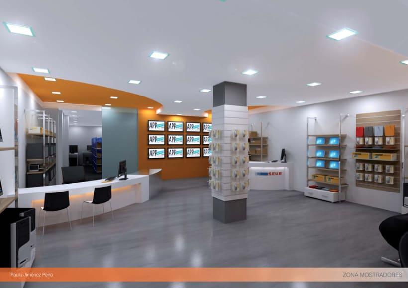 Proyecto de interiorismoTienda de informática 2012. (Murcia) 4