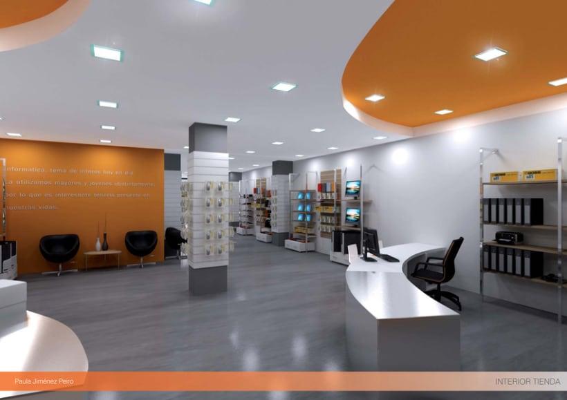 Proyecto de interiorismoTienda de informática 2012. (Murcia) 6