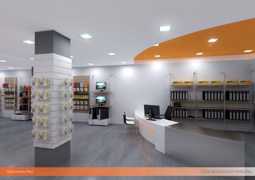 Proyecto de interiorismoTienda de informática 2012. (Murcia) 7