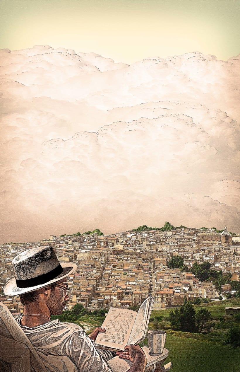 """Ilustración para una de las piezas de la Campaña de Fomento de la Lectura 2013 """"Libros a la Calle"""" de la Comunidad de Madrid. 0"""