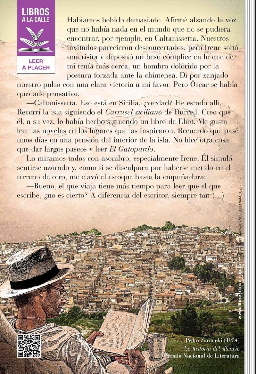 """Ilustración para una de las piezas de la Campaña de Fomento de la Lectura 2013 """"Libros a la Calle"""" de la Comunidad de Madrid. 1"""