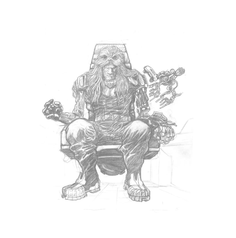 STAR WARS concept art lord sith Wookiee hunter 1