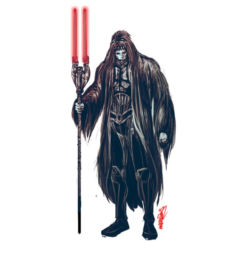 STAR WARS concept art lord sith Wookiee hunter 2
