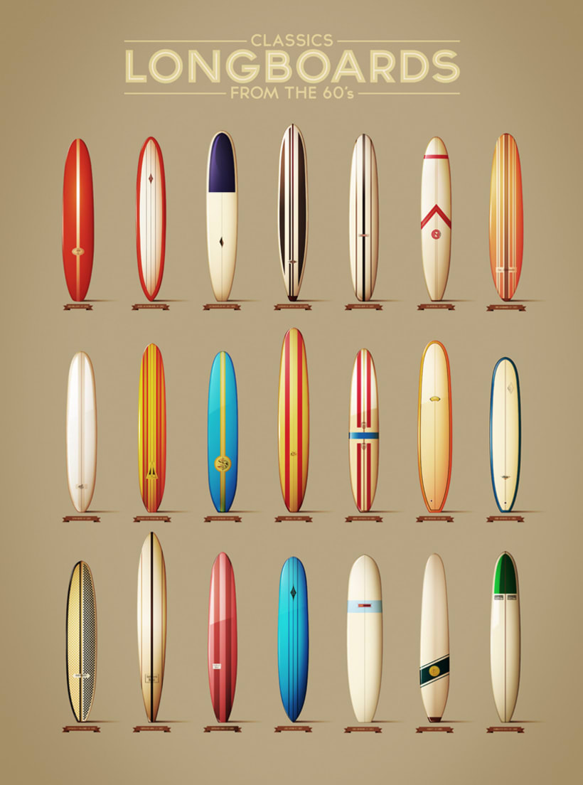 Classics longboards from the 60´s 0