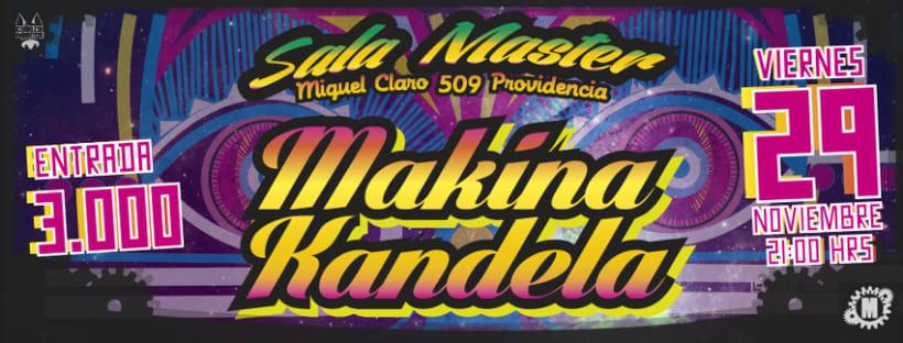 afiches y volantes GRUPO MAKINA KANDELA 1