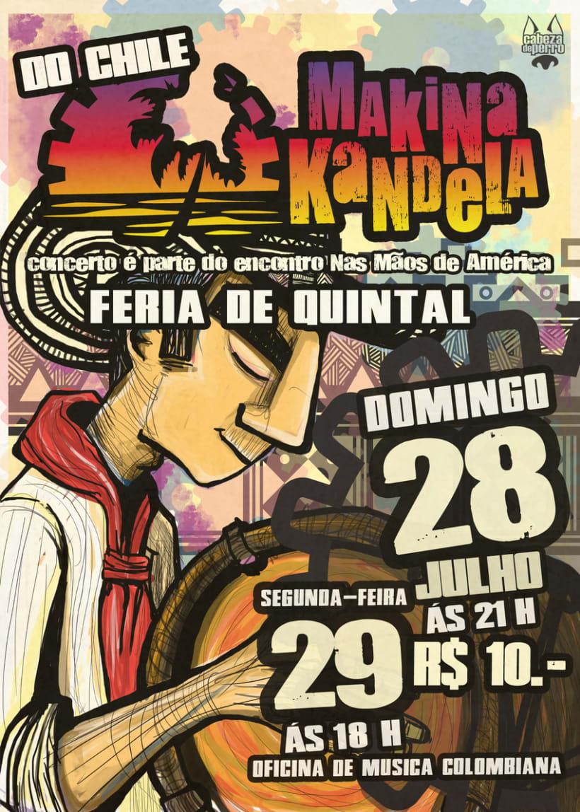 afiches y volantes GRUPO MAKINA KANDELA 2