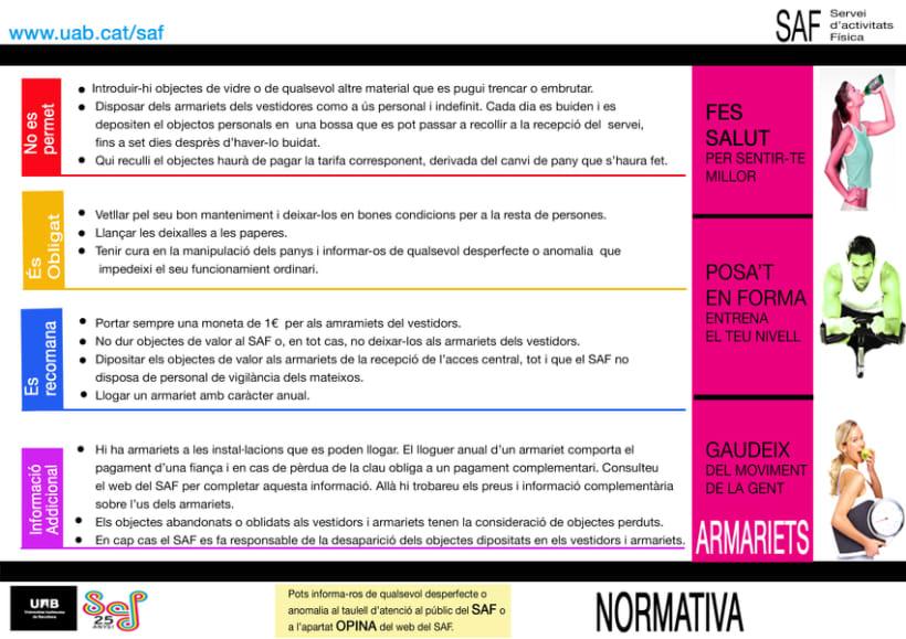 Carteles. Becari en el Servei d'Activitats Física-Universitat Autonoma de Barcelona 4